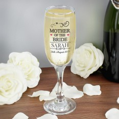 Hampers and Gifts to the UK - Send the Mother of the Bride Flute Glasses - Personalised