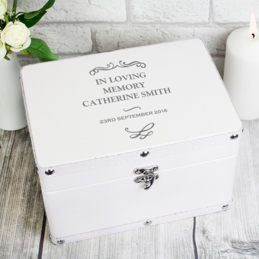 Hampers and Gifts to the UK - Send the Personalised Antique Keepsake Box