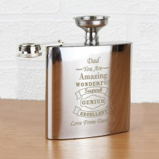 Hampers and Gifts to the UK - Send the Any Name Personalised Vintage Style Hip Flask