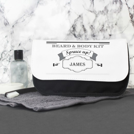 Hampers and Gifts to the UK - Send the Mens Wash Bag - Personalised