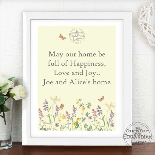 Hampers and Gifts to the UK - Send the Personalised Wall Art - Country Diary