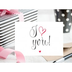 Hampers and Gifts to the UK - Send the Wishes - I Love You Wedding Card