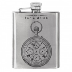 Hampers and Gifts to the UK - Send the Time for a Drink Hip Flask