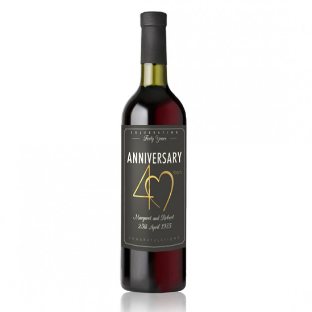 Hampers and Gifts to the UK - Send the 40th Wedding Anniversary Wine