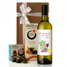 Hampers and Gifts to the UK - Send the Age Only Matters If You're Cheese Traditional Style Wine Gift