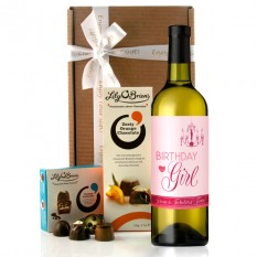 Hampers and Gifts to the UK - Send the Birthday Girl Chandelier Wine Gift