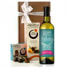 Hampers and Gifts to the UK - Send the With All My Love Birthday Wine Gift