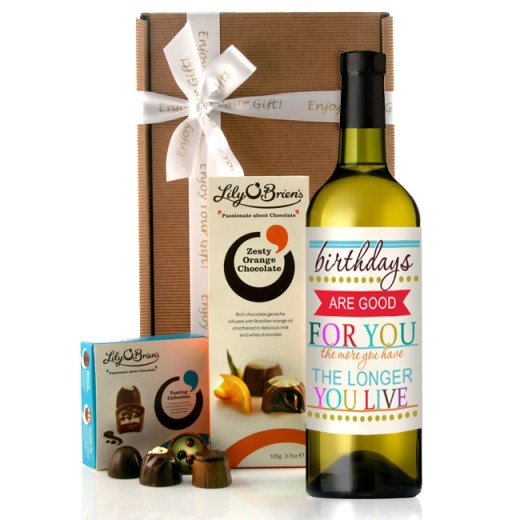 Hampers and Gifts to the UK - Send the Birthdays Are Good Wine Gift