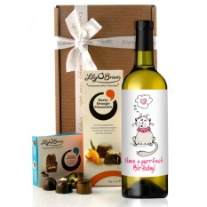 Hampers and Gifts to the UK - Send the Have a Purrfect Birthday Wine Gift