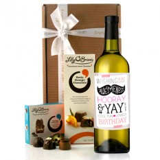 Hampers and Gifts to the UK - Send the Cool Fun Birthday Wine Gift