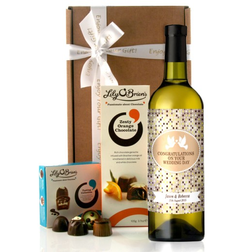 Hampers and Gifts to the UK - Send the Congratulations on Your Wedding Day Wine Gift