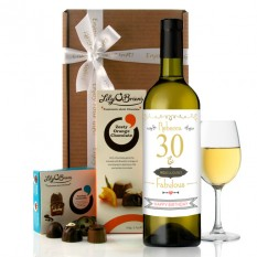 Hampers and Gifts to the UK - Send the 30th Birthday Ridiculously Fabulous Wine Gift