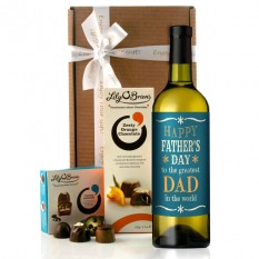 Hampers and Gifts to the UK - Send the Father's Day Wine and Chocolates Gift