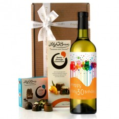 Hampers and Gifts to the UK - Send the Flirty Thirty Birthday Wine Gift