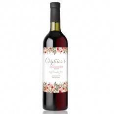 Hampers and Gifts to the UK - Send the  Personalised Vintage Floral Wine