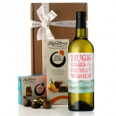 Hampers and Gifts to the UK - Send the Hugs and Kisses Wine Gift