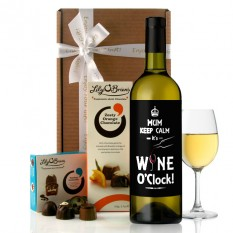 Hampers and Gifts to the UK - Send the  Personalised Any Name Keep Calm Wine Gift