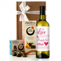 Hampers and Gifts to the UK - Send the Love and Laughter Wine Gift