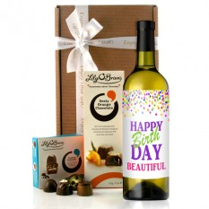 Hampers and Gifts to the UK - Send the Personalised Any Name Birthday Wine Gift