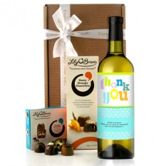 Hampers and Gifts to the UK - Send the Personalised Thank You Colourful Wine Gift