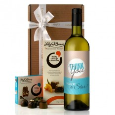 Hampers and Gifts to the UK - Send the Thank You You're A Star Wine Gift