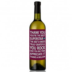Hampers and Gifts to the UK - Send the You Rock Wine Bottle
