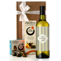 Hampers and Gifts to the UK - Send the Thanks A Million Wine and Chocolates Gift