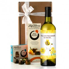 Hampers and Gifts to the UK - Send the Bee Well Soon Wine Gift
