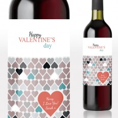 Happy Valentine's Day Wine Gift Personalised
