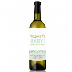 Hampers and Gifts to the UK - Send the Welcome Baby Wine Bottle
