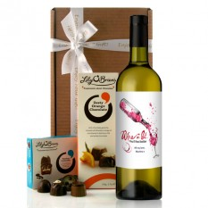Hampers and Gifts to the UK - Send the Personalised Wine A Bit Wine Gift