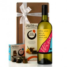 Hampers and Gifts to the UK - Send the When Wine Goes In Wisdom Wine Gift