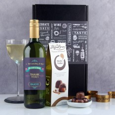 Hampers and Gifts to the UK - Send the Just Something to Say Thank You Wine Gift