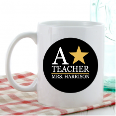 Hampers and Gifts to the UK - Send the Personalised A Star Coffee Mug