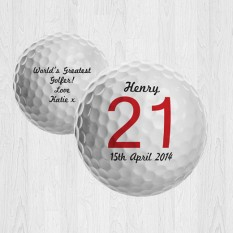 Hampers and Gifts to the UK - Send the Personalised Keepsake Birthday Golf Ball