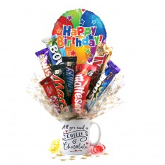 Hampers and Gifts to the UK - Send the All You Need Is Coffee & Chocolate Bouquet In A Mug