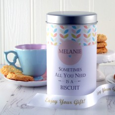 Hampers and Gifts to the UK - Send the Gift In A Tin - Personalised Keepsake Cookie Tin