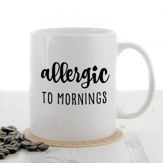 Hampers and Gifts to the UK - Send the Allergic To Mornings Mug