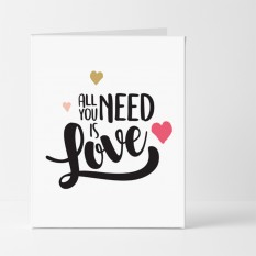 Hampers and Gifts to the UK - Send the All You Need Is Love Card