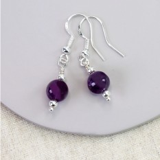 Hampers and Gifts to the UK - Send the Amethyst Drop Earrings