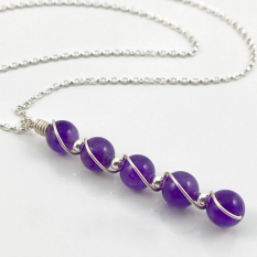 Hampers and Gifts to the UK - Send the Amethyst Gemstone Necklace