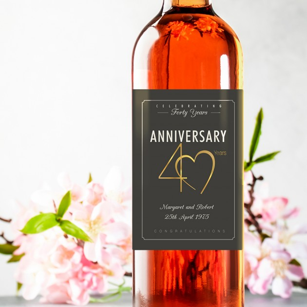 Hampers and Gifts to the UK - Send the 40th Wedding Anniversary Wine Gift