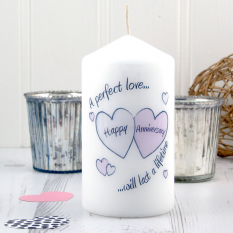 Hampers and Gifts to the UK - Send the Perfect Love Anniversary Candle