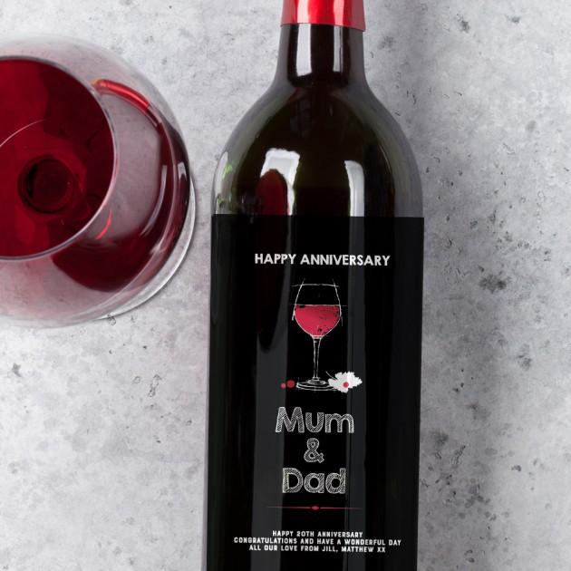 Hampers and Gifts to the UK - Send the Anniversary Wine Gift for Mum and Dad