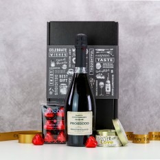 Hampers and Gifts to the UK - Send the Anniversary  Prosecco and Chocolates Gift Box