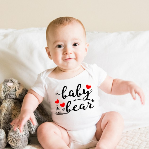Hampers and Gifts to the UK - Send the Baby Bear Love Heart Onesie