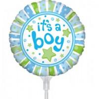 "Baby Boy Balloon 9"" +£2.99"