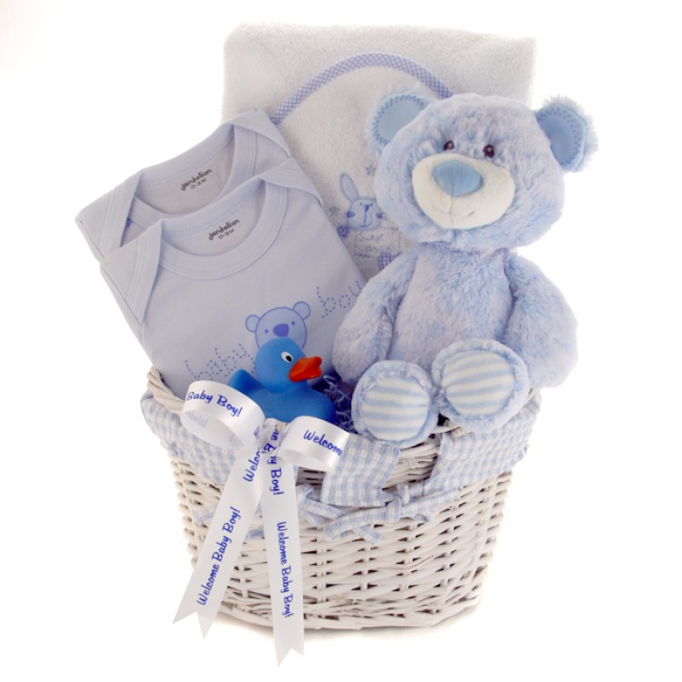 Baby Gift Baskets Delivered Uk : Baby gifts welcome boy gift basket