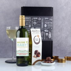 Hampers and Gifts to the UK - Send the Welcome Baby Wine Gift