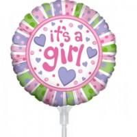 "Baby Girl Balloon 9"" +£2.99"